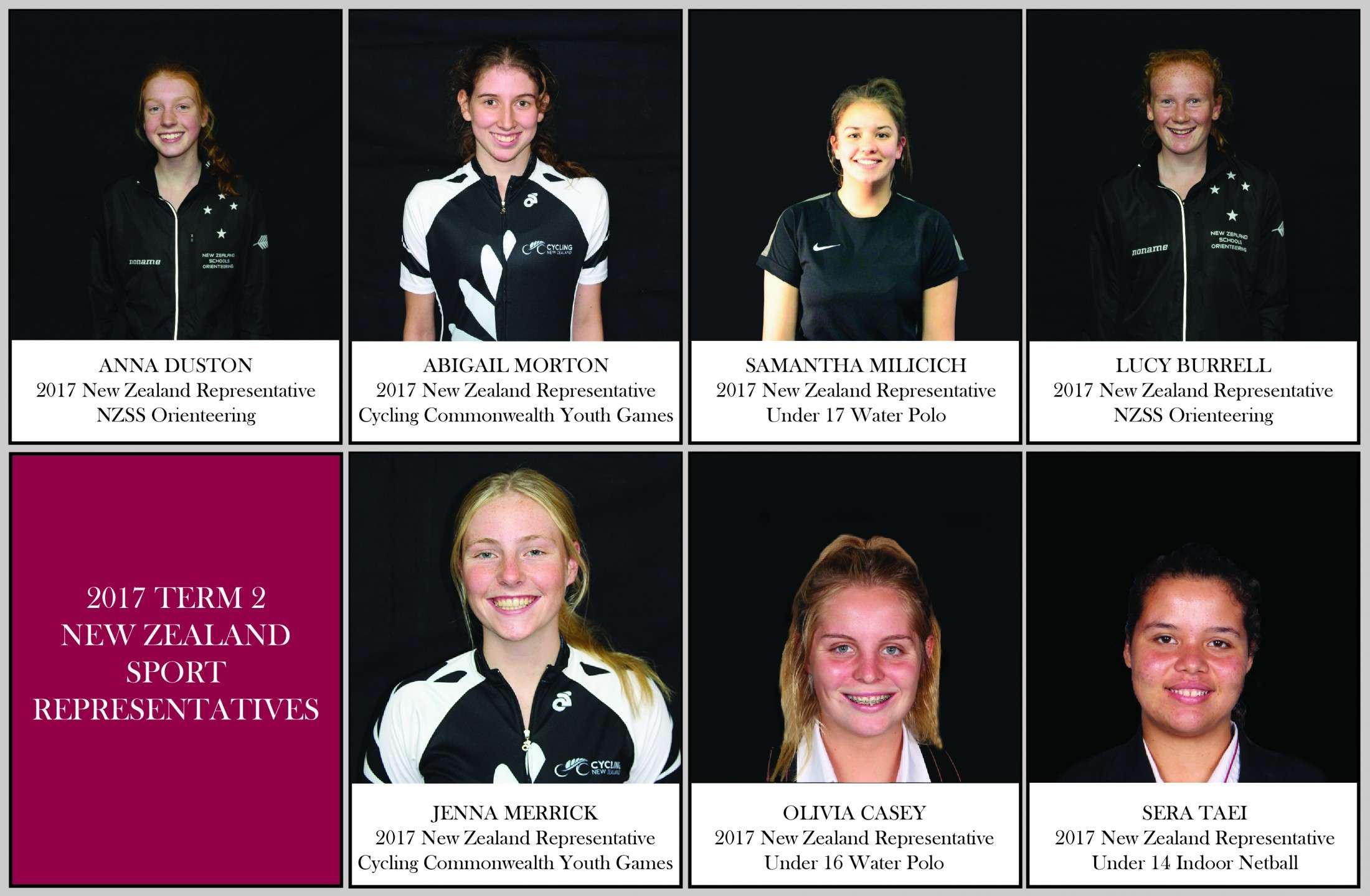 Sport Nz Reps Collage End Of Term 2