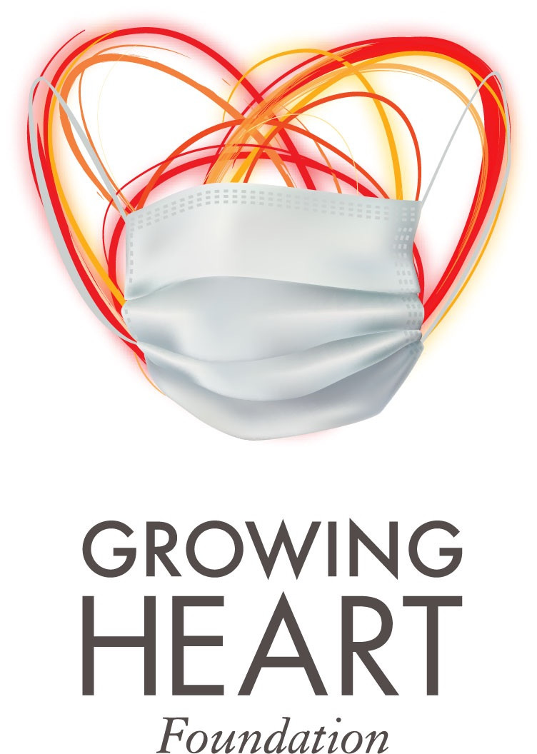 Growing Heart Logo With Surgical Mask