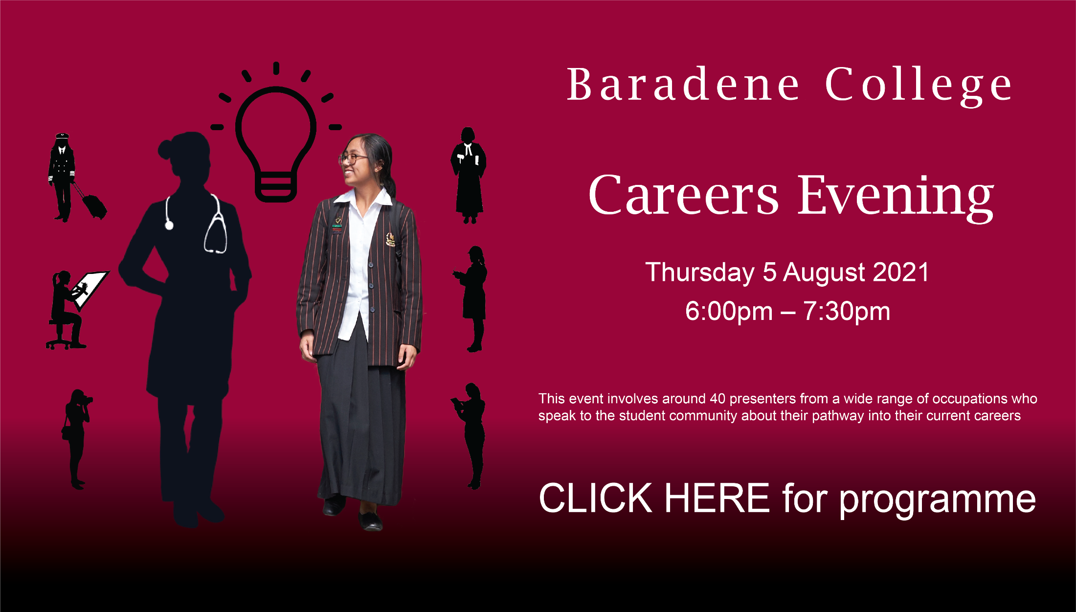 Careers Evening Click Here For Programme  2021